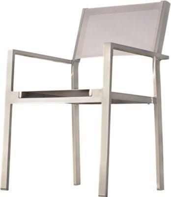 stapelbare stoel Kubieke, 4 stuks, zilver/wit, 4 st.