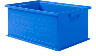 Stapelbox SSI Schäfer 14/6-2, geschlossen, Polypropylen, L 465 x B 314 x H 198 mm, 21 l, blau, 10 Stück