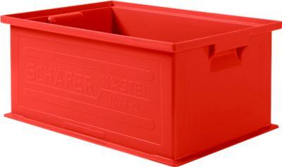 Stapelbox SSI Schäfer 14/6-2, geschlossen, Polypropylen, L 465 x B 314 x H 198 mm, 21 l, rot, 10 Stück