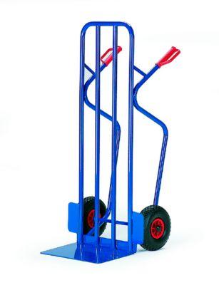 Stapelkarre extra breit, Tragkraft 250 kg, Vollgummi-Bereifung