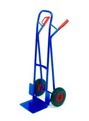Stapelkarre mit großer Schaufel, Tragkraft 250 kg, Vollgummi-Bereifung