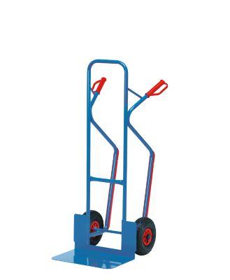 Stapelkarre mit großer Schaufel, Vollgummibereifung