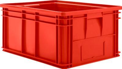 Stapelkasten Serie 14/6-1, aus PP, mit Griffmulde, Inhalt 71 L, rot