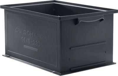 Stapelkasten Serie 14/6-230, aus PP, ESD-leitfähig, Inhalt 26 L, schwarz