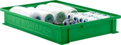 Stapelkasten Serie 14/6-2F, aus Polypropylen, mit Griffmulde, Inhalt 8 L, grün