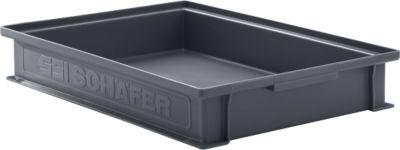Stapelkasten Serie 14/6-2F, aus PP, ESD-leitfähig, Inhalt 8 L, schwarz