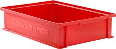 Stapelkasten Serie 14/6-2G, aus Polypropylen, mit Griffmulde, Inhalt 10,3 L, rot