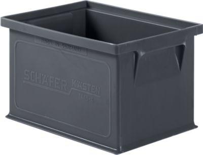 Stapelkasten Serie 14/6-4, aus PP, ESD-leitfähig, Inhalt 2,5 L, schwarz