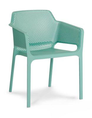 Stapelsessel Ohio, ergonomische Sitzschale, witterungs-/UV-betändig, B600xT600xH800 mm, mint