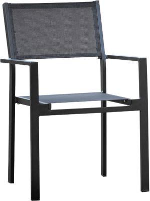 Stapelstuhl Cubic, 4 Stk., schwarz/schwarz