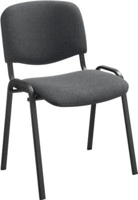 Stapelstuhl ISO Basic, Gestell schwarz, anthrazit