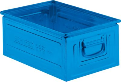 Stapeltransportbak gr. 14/6-2 staal, blauw