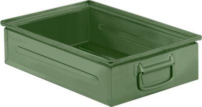 Stapeltransportbak gr. 14/6-2H staal, groen