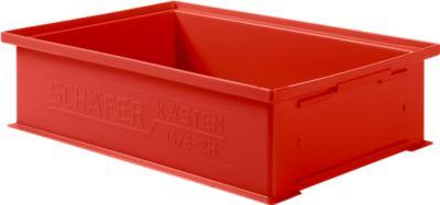 Stapeltransportbakken 14/6-2H, 12 liter, kunststof rood