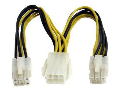 StarTech.com 15cm 6pin PCI Express Splitter Kabel - PCIe Adapterkabel - Netz-Splitter - 15 cm