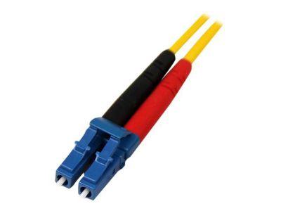 StarTech.com 1m Singlemode 9/125 Duplex LSZH LC auf LC OS1 LWL / Glasfaser-Netzwerkkabel - Gelb - Patch-Kabel - 1 m - Gelb