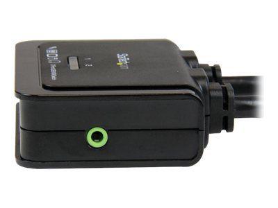 StarTech.com 2 Port USB HDMI KVM Switch mit Audio und Fernschalter - Desktop Umschalter USB Powered - 1920x1200 - KVM-/Audio-Switch - 2 Anschlüsse