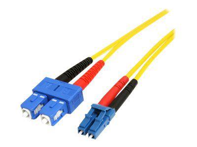 StarTech.com 4m Singlemode 9/125 Duplex LSZH LC auf SC OS1 LWL / Glasfaser-Netzwerkkabel - Gelb - Patch-Kabel - 4 m - Gelb