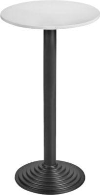 Statafel met blad, lichtgrijs/zwart