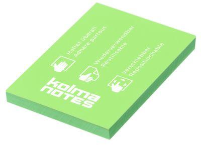 Statische Notizzettel Kolma Notes, A8, 100 Blatt, grün