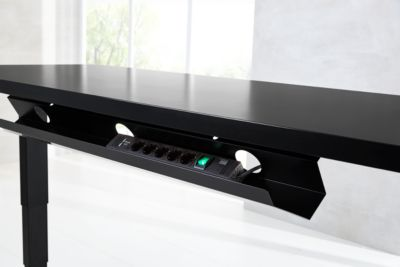 Steckdosenleiste Multi, 5-fach, für elektrisch höhenverstellbaren Schreibtisch Elements, schwarz
