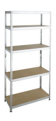 Steckregal Schwerlast, Komplettregal, mit 5 Böden, 2000x920x300 mm, verzinkt