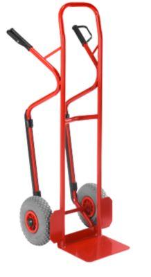 Steekwagen rood met rubberbanden