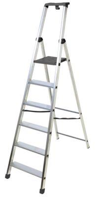 Stehleiter Facal PiuSu, 8 Stufen, Aluminium, einseitig begehbar