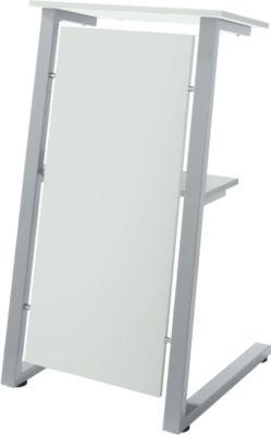 Stehpult SSI Schäfer, Stahlrohr/Spanplatte, B 590 x T 620 x H 1120/1060 mm, lichtgrau