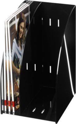 Stehsammler DIN A4, Acryl, extrabreit, schwarz