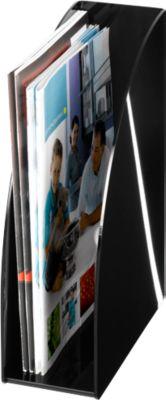 Stehsammler DIN A4, Rückenbreite 95 mm, Acryl, schwarz