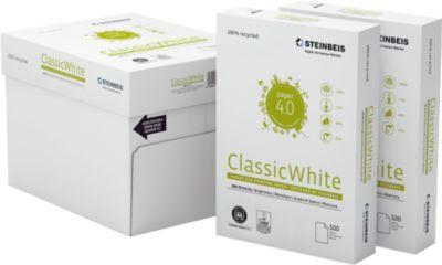 Steinbeis recyclingpapier ClassicWhite, A4, 80 g/m², 80 g/m², 70s wit, 2.500 vellen