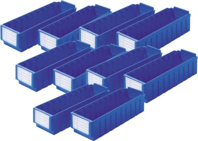 Stellingbakken RK 421, 8 vakken, blauw, set van 10 st.