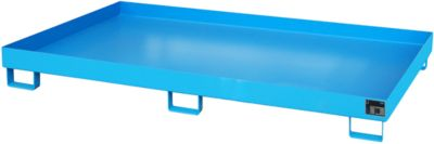 Stellinglekbak type RW-RW 2200-1, L 2150 x B 1300 mm, zonder rooster, blauw RAL 5012