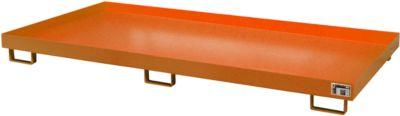 Stellinglekbak type RW-RW 2700-1, L 2650 x B 1300 mm, zonder rooster, oranje RAL 2000