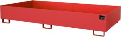 Stellinglekbak type RW-RW 2700-2, L 2650 x B 1300 mm, zonder rooster, rood RAL 3000