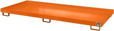 Stellinglekbak type RW-RW 3300-1, L 3250 x B 1300 mm, zonder rooster, oranje RAL 2000