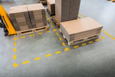 Stellplatz-Markierung Durable, selbstklebend in L-Form, für Böden, 10 Stück