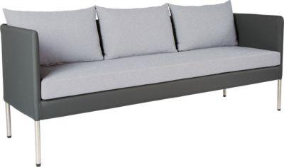 STERN Bench Miguel, weerbestendig, aluminium frame, grafiet, frame, frame, enz.