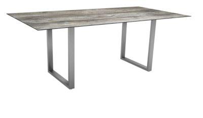 STERN skid table, weerbestendig, roestvrij stalen frame, tafelblad Silverstar 2,0