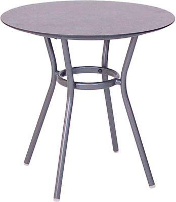 STERN Space tafel, ø 68, aluminium antraciet, aluminium antraciet