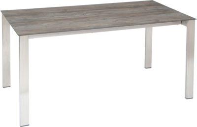 STERN tafel, frame roestvrij staal, tafelblad Silverstar 2,0 Tundra grey