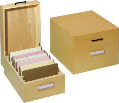 Steunplaten voor houten kaartenbak A5 dwars