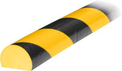 Stootrand type C, in stukken van 1 m, geel/zwart