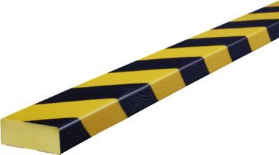 Stootrand type D, 5m-rol, geel/zwart