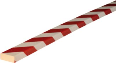 Stootrand type D, 5m-rol, wit/rood