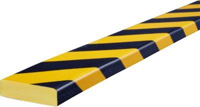 Stootrand type S, in stukken van 1 m, geel/zwart