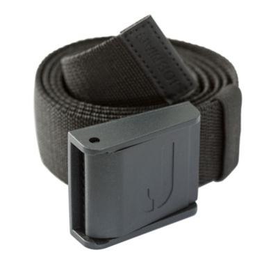 Strechgürtel mit Plastikschnalle schwarz 120 cm