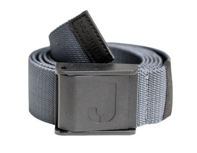 Strechgürtel mit Plastikschnalle schwarz grau 90cm