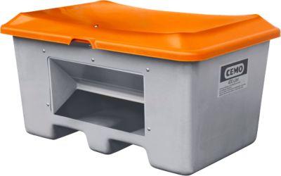 Streugutbehälter unterfahrbar, mit Entnahmeöffnung, 400 l, L 1210 x B 820 x H 680 mm